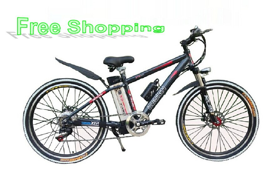 26-inch aluminum alloy mountain bike 48V lithium battery electric vehicles bicycles - G&S WHEEL WORLD store
