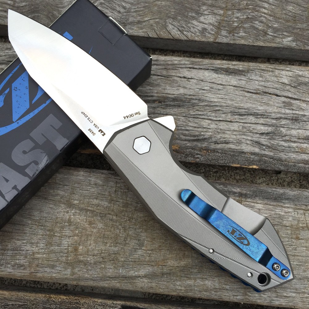 Buy LDT ZT 0456 Tactical Folding Blade Knife Titanium Handle CTS 204P Blade Bearing Flipper Hunting Knife Camping Survival EDC Tools cheap