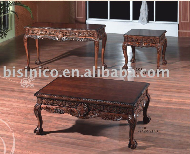 Solid wood antique coffee tableamerican coffee table for Wooden home furnichers