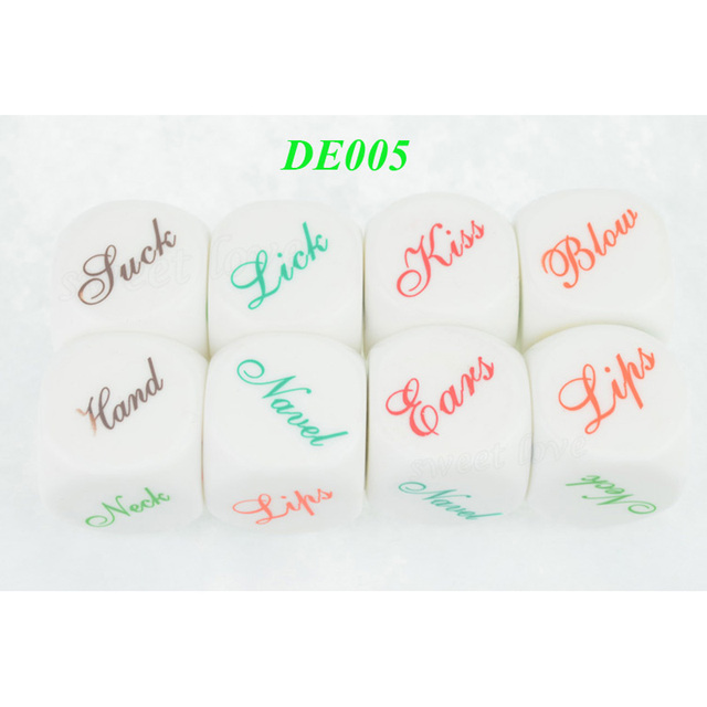 4 Kinds Glow Hot Sale Erotic Craps Sex Dice Night Lights Love Sexy Funny Flirting Toys for Couples Adult Games Products DEMix4