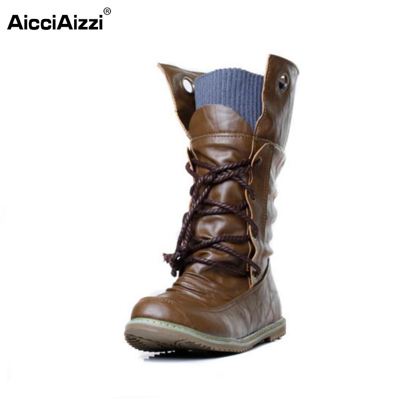 women flat half short boots winter botas footwear fashion cross strap round bohemia toe warm boot shoes P19357 size 34-43(China (Mainland))