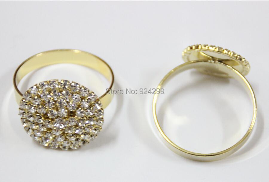 wholesale 20pcs lot rhinestone napkin ring serviette holder wedding
