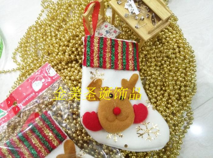 Christmas decoration socks put in candy gift for children christmas stocking gift bags tailslock new year happy xmas decoration(China (Mainland))