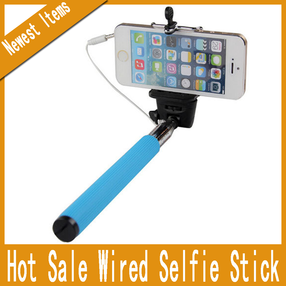 wired monopod selfie holder built in shutter extendable selfie stick wired for samsung galaxy s4. Black Bedroom Furniture Sets. Home Design Ideas