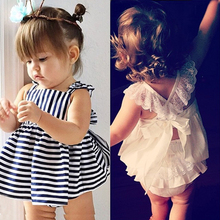 2016 summer baby girl birthday party princess dress white vestidos toddler baby girls clothing infant baby clothes lace dresses(China (Mainland))