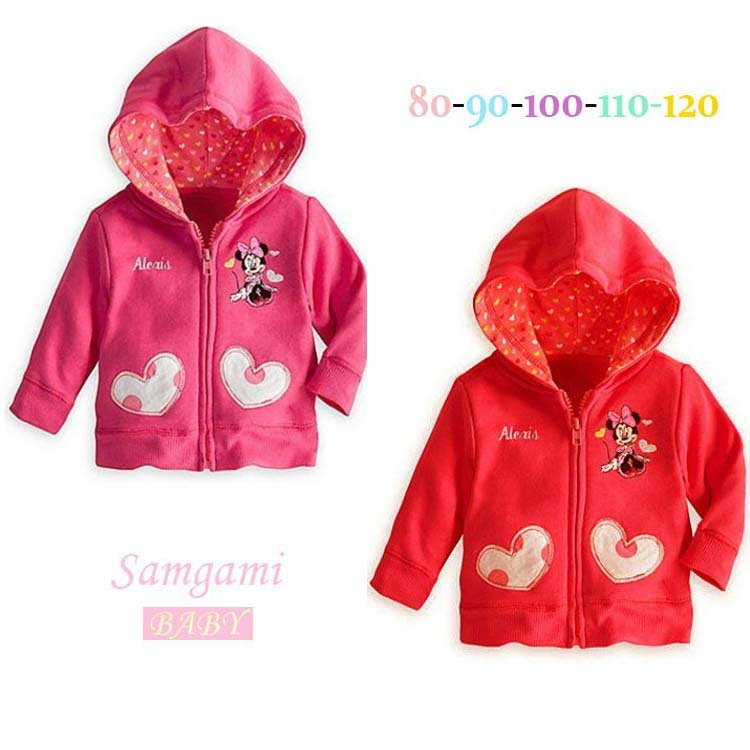 Autumn New Childrens cotton long sleeve cartoon minnie mouse jacket baby sports clothes kids leisure hooded caot free shipping<br><br>Aliexpress