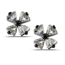 1 Pair Black Stud Earrings Four-Leaved Clover Womens Earrings Reborn Small Stud Earrings Summer Jewelry Cheap Stud Earrings