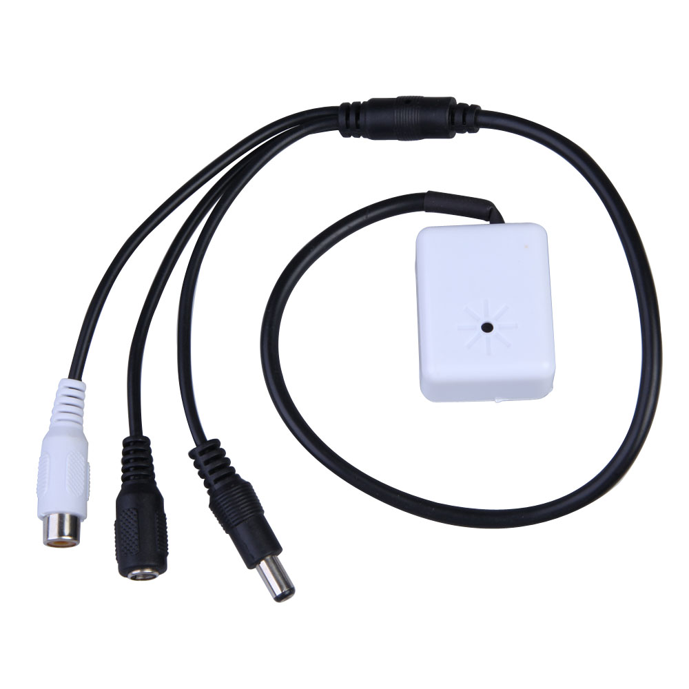 Hight Quality CCTV Mic Microphone Sound Pick-Up Monitor Voice Audio Security White FC(China (Mainland))