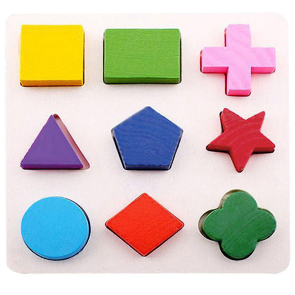3 Sets Kids Baby Children Wooden Geometry Montessori Puzzle Early Learning Educational Toy Cool Gift