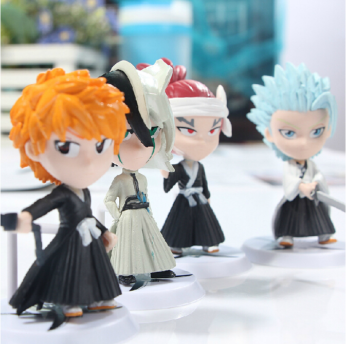 Anime BLEACH 6 Generation 6piece/Set Lovely PVC Action Figure Collection Model Toys Doll 8cm Free Shipping(China (Mainland))