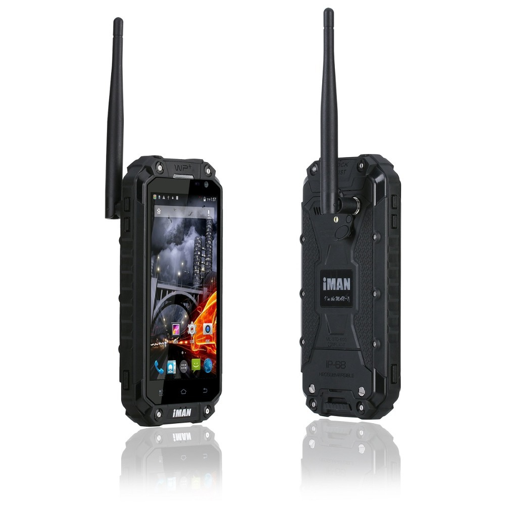 iMAN IP68 Waterproof 2G+32G MTK6592 1.57GHz PTT Radio Mobile Walkie Talkie 3G GPS Android Rugged Tri-Proof Cell Phone Interphone(China (Mainland))