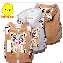 The new 2015 fashion han edition tiger in the spring and autumn in the cartoon children wool vest vest free shipping(China (Mainland))
