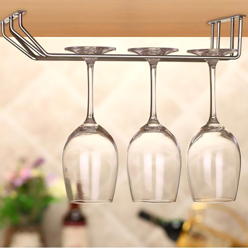Wine Glass Holder Stemware Rack Under Cabinet Storage Organizer 1 Row 2 Row 3 Row CA1T(China (Mainland))