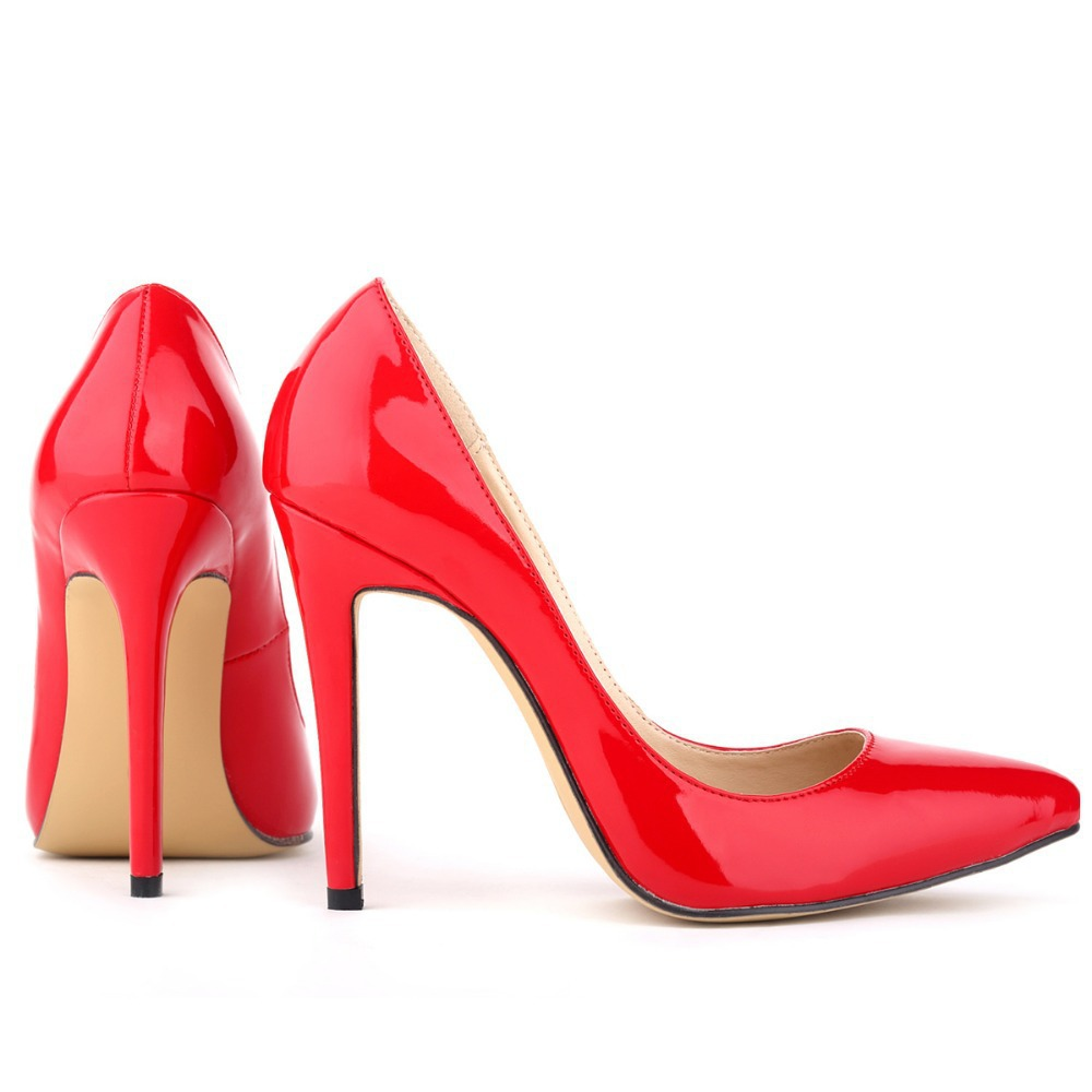 Red 2 Inch Heel Pumps - Is Heel