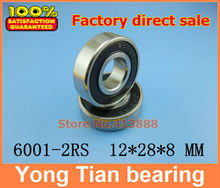 20pcs/lot High quality deep groove ball bearing free shipping quality 6001 2RS 6001RS 6001-2RSH 6001-2RS1 180101 12*28*8 mm