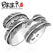 БАЙЕР стерлингового серебра 925 кольца для любителей Романтический Перо Крыла Ангела Кольцо для Мужчин И Женщин Пара Кольцо YM002(China (Mainland))