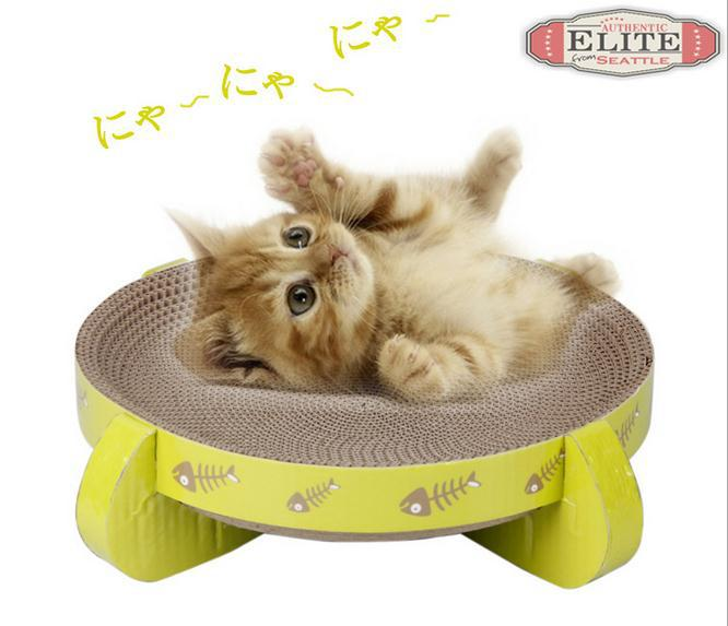 Pet Cat With Paper Mill Scratch Cat Toy Box Scratch Bed Scratching Board Protect Paw Furniture Cat Litter Catnip Free Shipping(China (Mainland))
