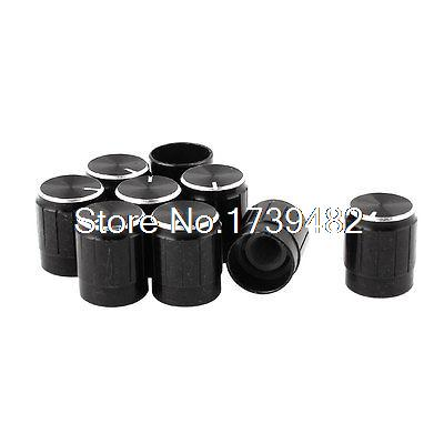 9pcs Black Metal Potentiometer Switch Control Rotary Knobs for 5.5mm Dia Shaft(China (Mainland))