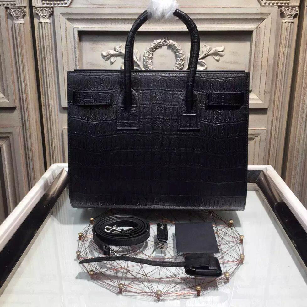 yves st laurent handbags - classic baby sac de jour bag in black leather