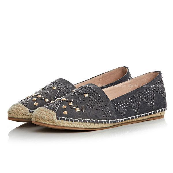 2015 alpargatas zapatos de moda para mujer damas Alpargata mujer mocasines nobuck piel de oveja mujer