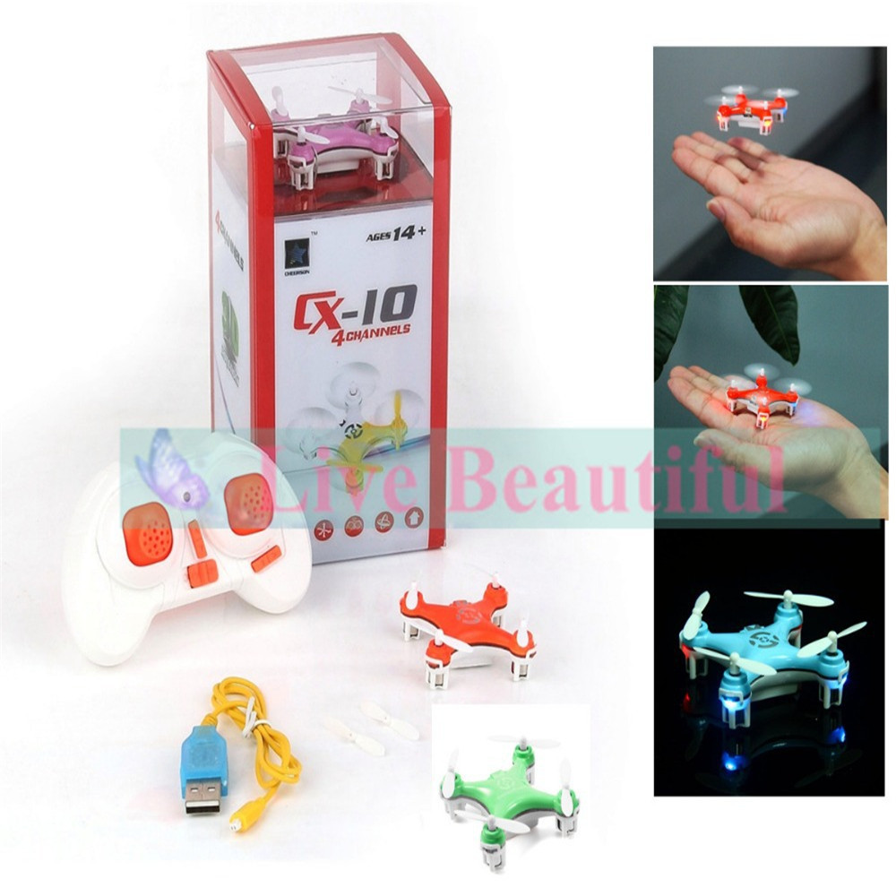 2015 Hot Sale Purple Mini 2 4ghz 4ch Cheerson cx 10 RC Remote Control Quadcopter Helicopter