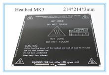 Free shipping black MK3 heat bed, latest Aluminum heatbed dual power 3D printer accessories RepRap MK3 heatbed