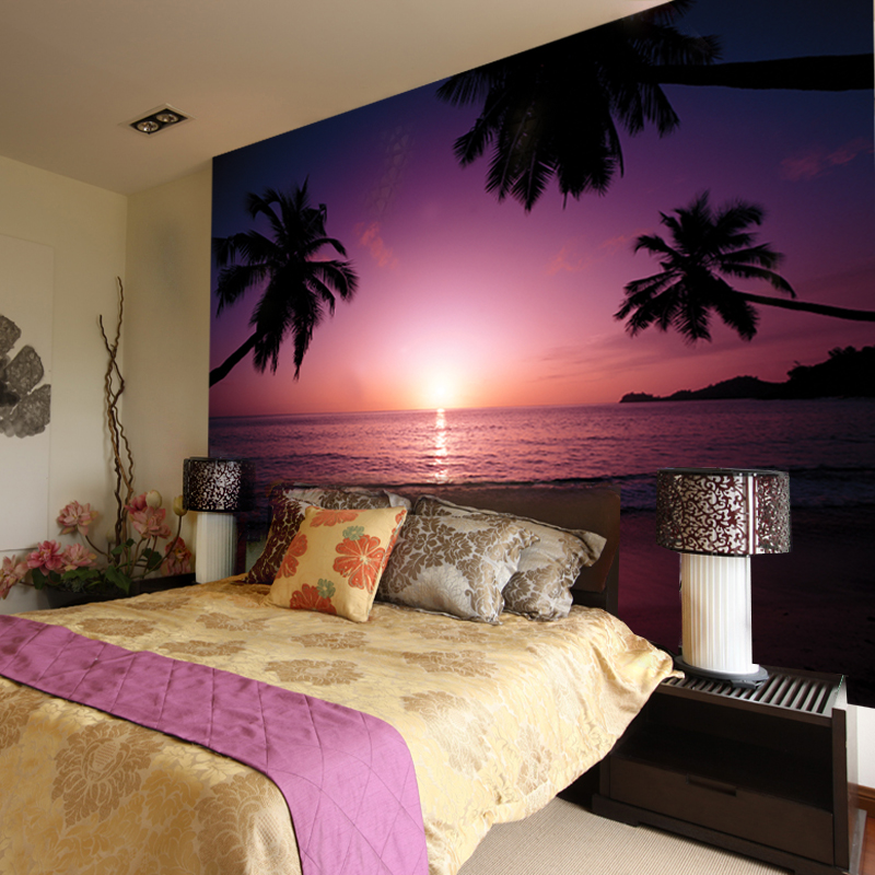 How to paint a sunset on a bedroom wall 28 images for Wallpaper and paint ideas for bedroom