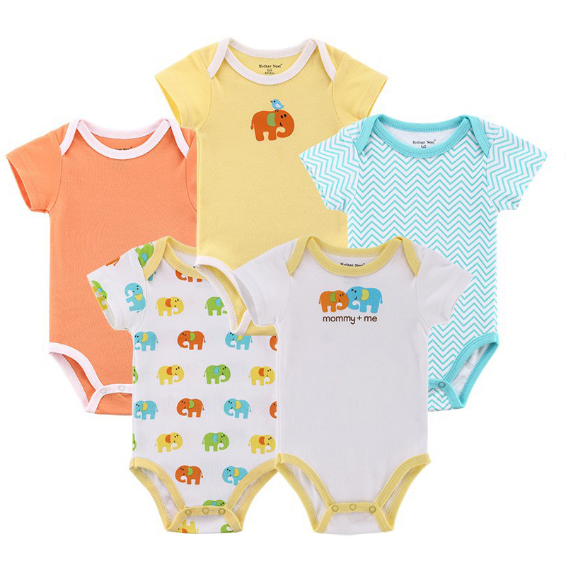 5pcs/ lot Mom's Baby Romper Hanging 100%Cotton Baby Romper Carters Baby Girl Boy Baby Romper 0-19 months Clothes Free shipping