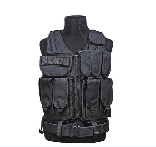 Law Enforcement SWAT Vest Police US American Tactical Military Style Vest Combat Pistol-Black CS uniform(China (Mainland))