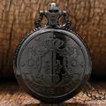 Japanese Kuroshitsuji Black Butler Sebastian Theme Pocket Watch With Necklace Chain Free Drop Shipping