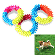 Dog's Toys Pet Traning Products Pets 3 Color Embossment Spinose Ring TPR Rubber Toys Resistance to bite Free Shipping V1NF
