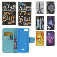 Wiko Rainbow UP Jam 3G 4G Case Leather Flip Lenny 2 3 Pulp Ooe plus Cover Card Slot Kickstand - fave colors Store store