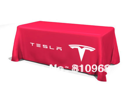 Table skirting, Printed Table Cloth, Tradeshow Advertising Custom Printed Tablecloth, Exhibition table throw, 6ft or 8ft(China (Mainland))