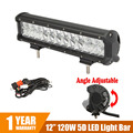 CREE Chips 5D Straight LED Light Bar 12 120W Combo Beam Dual Row Car Work Light