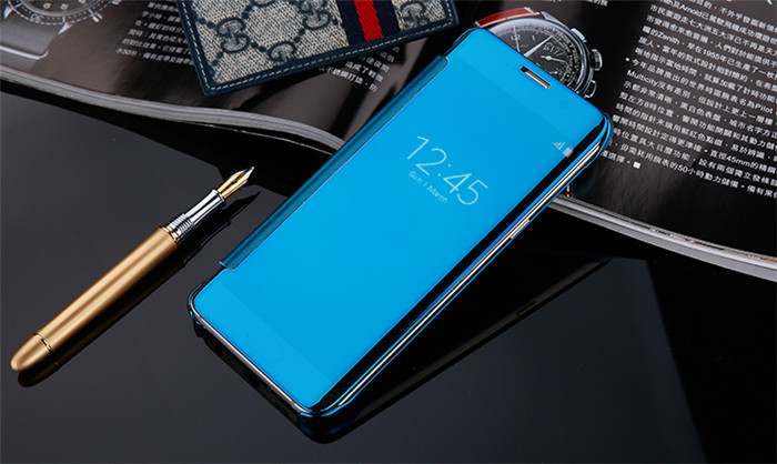 High Quality Luxury Fashion Clear View Mirror Screen Flip Case Cover For Samsung Galaxy S7 G9300 S7 Edge G9350 Phone Cases Back