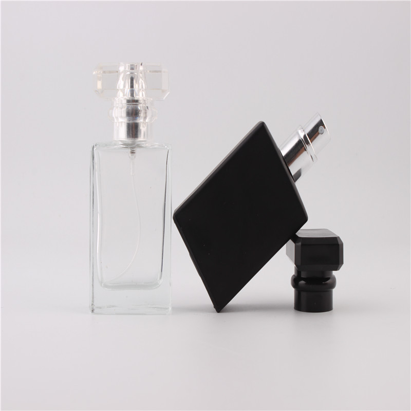 New Kind 30ml Clear Cap Clear Glass Spray Refillable Perfume Bottles Glass Automizer Empty Cosmetic Container For Travel(China (Mainland))