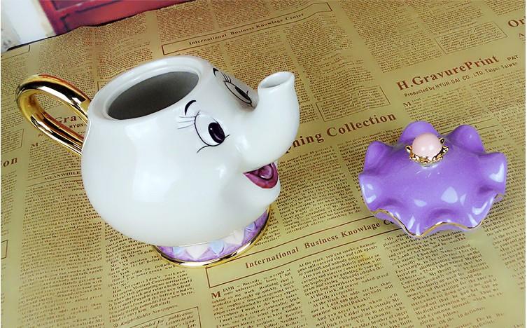 Cartoon Beauty And The Beast Teapots Mug Mrs Potts Chip
