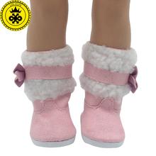 Zapatos Encaja 18 pulgadas Muñeca American Girl Doll Rojo Blanco botas de Botas para la Nieve Rosa Accesorios Para Muñecas Madame Alexander Zapatos de Muñeca 522(China (Mainland))