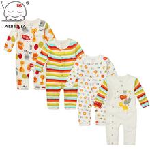 Moms care Cartoon Cotton Baby Rompers Autumn LongSleeve Baby Wear Infant Jumpsuit Boys Girls Clothes Roupas De Bebe Infantil(China (Mainland))