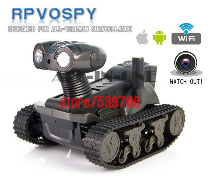 Newest RC tank HD video Camera wifi Spy Tank for iOS,Android,iphone,Monitor Eavesdrop,remote control tank with Real-Time Camera(China (Mainland))
