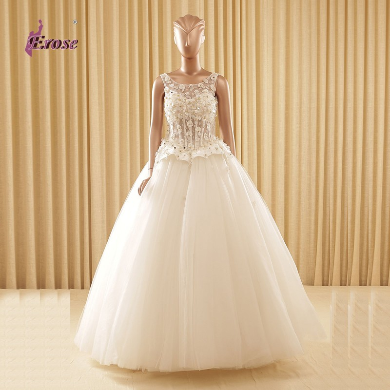 Sexy See Through Tank Wedding Dresses Sparkle Sequined Ball Gown Bridal Gowns vestidos de noiva CFYW018(China (Mainland))