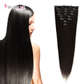 Remy Clip In Human Hair Extensions 1B Peruvian Clip In Hair Extensions Follow Me Straight Peruvian