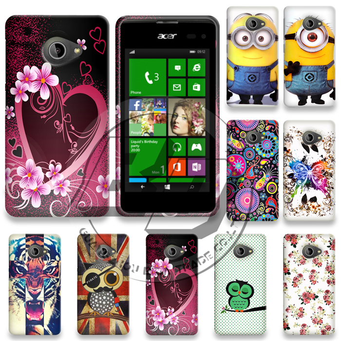 New Arrival Case For Acer Liquid Z220 M220 Minions Tiger Flower Heart Printing Soft TPU Gel Skin Cover Case(China (Mainland))