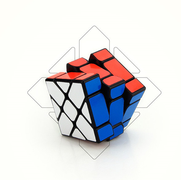 YongJun Axis Magic Cube Change Irregularly Jinggang Speed Mirror Cube with Frosted Sticker YJ 3x3x3 Black Skew Cube(China (Mainland))