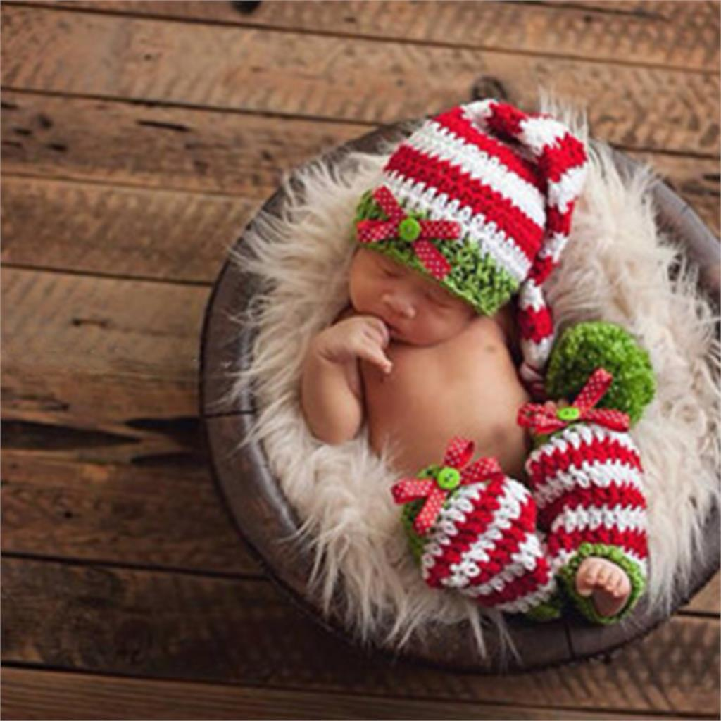 Newborn Baby Photography Props Soft Handmade Crochet Knit Cute Hat Set For Baby 0-3 Months