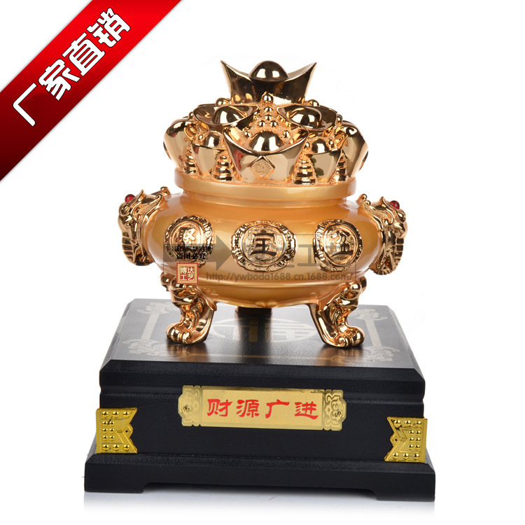 Factory outlets] gilded cornucopia resin crafts ornaments creative gifts home accessories Caiyuanguangjin(China (Mainland))