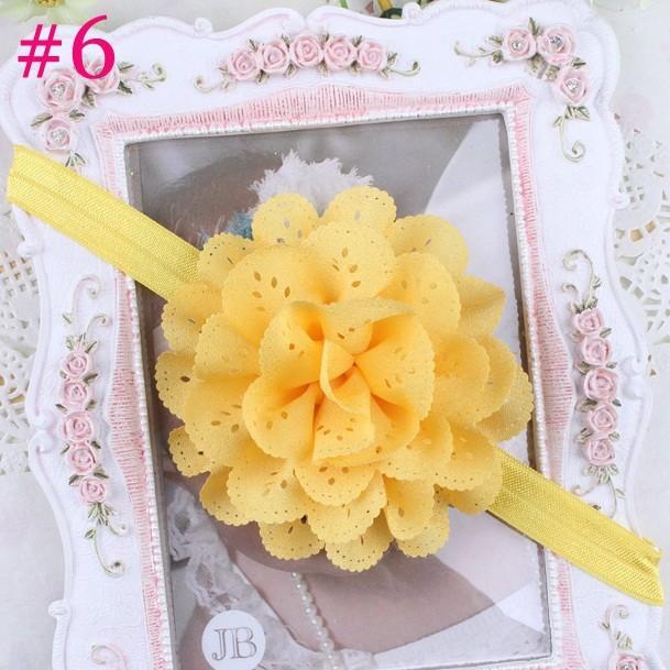 Летом стиль аксессуары для волос baby girl цветы повязка Младенческая Bebes эластичные ленты для волос цветы для волос 1 ШТ. HB134