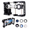Phone Mount Holder Stabilizer Grip Cage System Telescope Macro Wide Angle Fisheye Lens Filter For iPhone