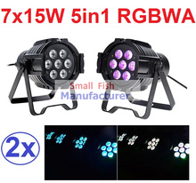 Buy 2xLot Sales 2016 Led Par Light 7X15W RGBWA 5in1 100W DJ Disco DMX Stage Lights Par Can Led Effect Club Party Lighting Free Ship for $152.00 in AliExpress store
