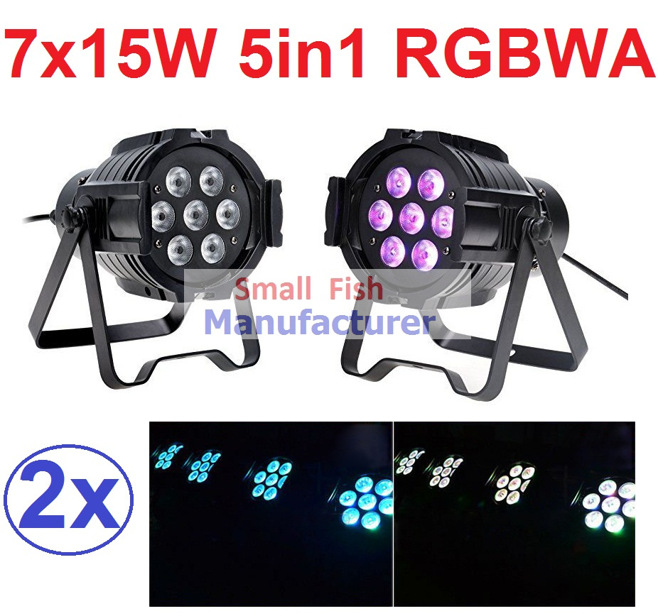 2xLot Sales 2016 Led Par Light 7X15W RGBWA 5in1 100W DJ Disco DMX Stage Lights Par Can Led Effect Club Party Lighting Free Ship(China (Mainland))